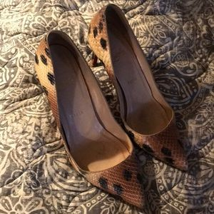 Snake skin authentic CL heels